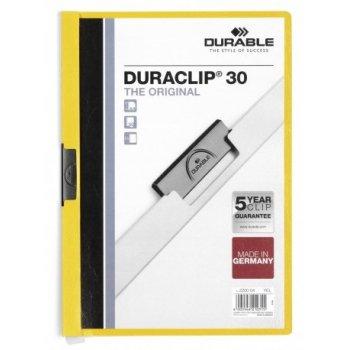 Durable Duraclip 30 archivador Transparente, Amarillo PVC