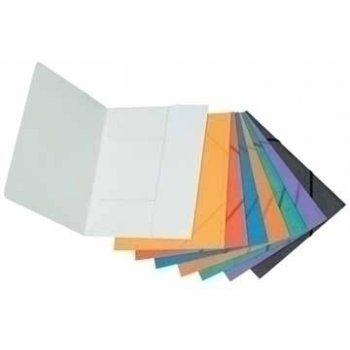 Connect Folder Clip & Elastic Orange Naranja