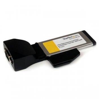 StarTech.com Tarjeta Adaptadora ExpressCard 34 de un Puerto Serie DB9 UART 16950 RS232 Express Card 34mm