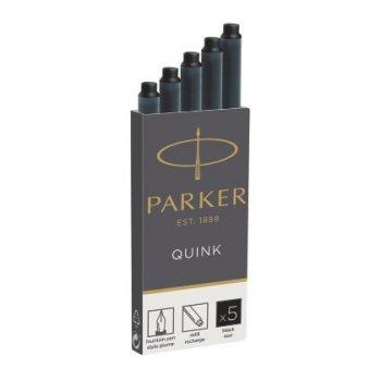 Parker Quink inktpatronen zwart, doos met 5 stuks Recambio de bolígrafo Negro 5 pieza(s)