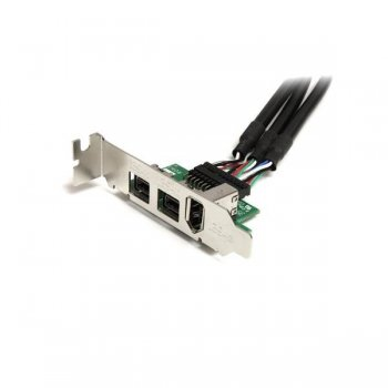 StarTech.com Adaptador Tarjeta Mini PCI Express PCIe FireWire 2 Puertos 1394b FW800 1 Puerto 1394a FW400