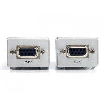StarTech.com Extensor de 1 Puerto Serie Serial RS232 DB9 por Cable Cat5 UTP Ethernet - Hasta 1000m