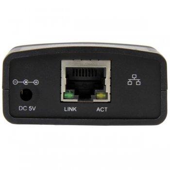 StarTech.com Servidor de Impresión en Red Ethernet 10 100 Mbps a USB 2.0 con LPR