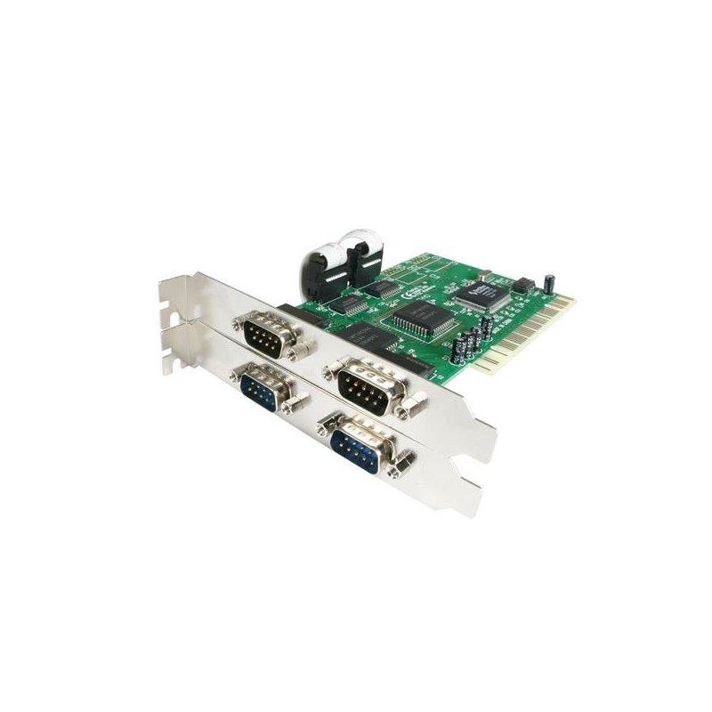 StarTech.com Tarjeta Adaptadora PCI de 4 Puertos Serie RS232 DB9 UART 16550 - Doble Voltaje