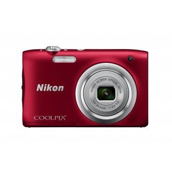 "Nikon COOLPIX A100, Case, Selfie stick Cámara compacta 20,1 MP CCD 5152 x 3864 Pixeles 1 2.3"" Rojo"