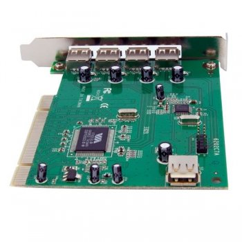 StarTech.com Adaptador Tarjeta PCI USB 2.0 de Alta Velocidad 7 Puertos - 4 Externos y 3 Internos