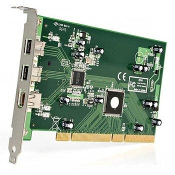 StarTech.com Adaptador Tarjeta Controladora FireWire 800 400 PCI 2 Puertos 1394b 1x 1394a - Kit Edición DV
