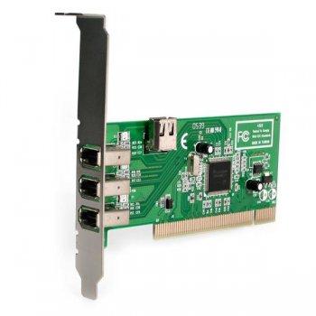 StarTech.com Adaptador Tarjeta Controladora FireWire 400 PCI 4 Puertos FW 6 Pin Chipset TI - IEEE 1394a