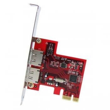 StarTech.com Tarjeta Adaptadora Controladora PCI Express PCIe 2 Puertos eSATA - SATA III 6Gbps