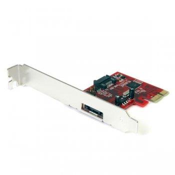 StarTech.com Tarjeta Adaptadora Controladora PCI Express PCIe 1 Puerto eSATA 1 Puerto SATA - SATA III