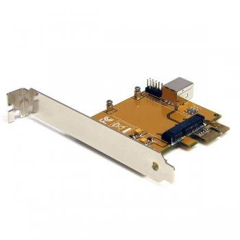 StarTech.com Tarjeta Adaptadora PCI Express PCIe a Mini PCI-E