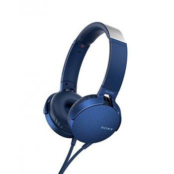 Sony MDR-XB550AP auriculares para móvil Binaural Diadema Azul