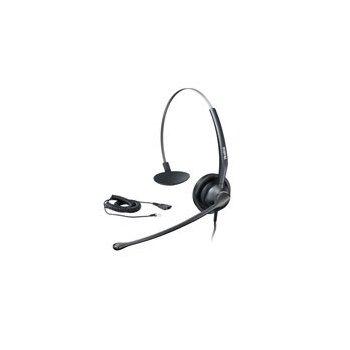 Yealink YHS33 auricular con micrófono Monoaural Diadema Negro