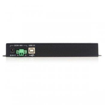StarTech.com Adaptador Concentrador Hub 4 Puertos Serie Serial RS232 DB9 a USB con Retención Puerto COM