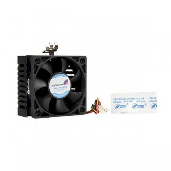 StarTech.com Ventilador Enfriador para CPU Socket 7 370 de 65x60x45mm c  Disipador de Calor y Conector TX3