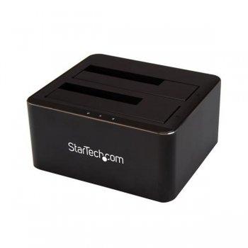 StarTech.com Docking Station USB 3.0 de 2 Bahías SATA de 2,5 o 3,5 Pulgadas para SSD o Disco Duro Base de Conexión para
