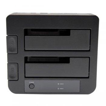 StarTech.com Docking Station eSATA USB 3.0 con UASP de 2 Bahías para Disco Duro o SSD SATA de 2,5 o 3,5 Pulgadas