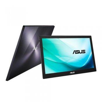 """ASUS MB169B+ pantalla para PC 39,6 cm (15.6"""") Full HD LED Plana Negro, Plata"""