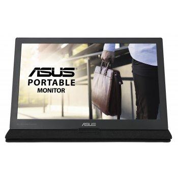 """ASUS MB169C+ pantalla para PC 39,6 cm (15.6"""") Full HD LED Plana Negro, Plata"""