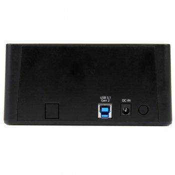 "StarTech.com Base de Conexión Autónoma USB 3.1 (10Gbps) para SSD DD SATA de 2,5"" y 3,5"" - Dock con Función de Copiado Rápido"