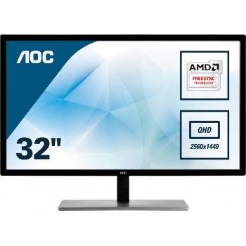 "AOC Value-line Q3279VWFD8 pantalla para PC 80 cm (31.5"") Wide Quad HD LED Plana Mate Negro"