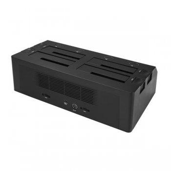 StarTech.com Docking Station USB 3.1 10Gbps de 4 Bahías SATA para Discos Duros y SSDs de 2,5 o 3,5 Pulgadas - Base USB-C de 4
