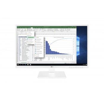 "LG 24BK550Y-W pantalla para PC 60,5 cm (23.8"") Full HD LCD Plana Blanco"