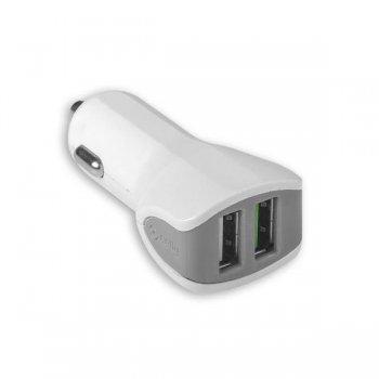 Celly CC2USBTURBOWH cargador de dispositivo móvil Auto Blanco
