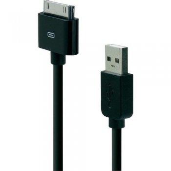 Belkin ChargeSync 1.2m cable de teléfono móvil Negro USB A Apple 30-pin 1,2 m