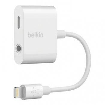 Belkin RockStar 3.5 mm + Lightning Lightning Blanco