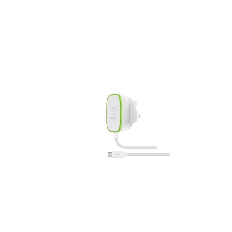 Belkin F7U009VF06-WHT cargador de dispositivo móvil Interior Verde, Blanco