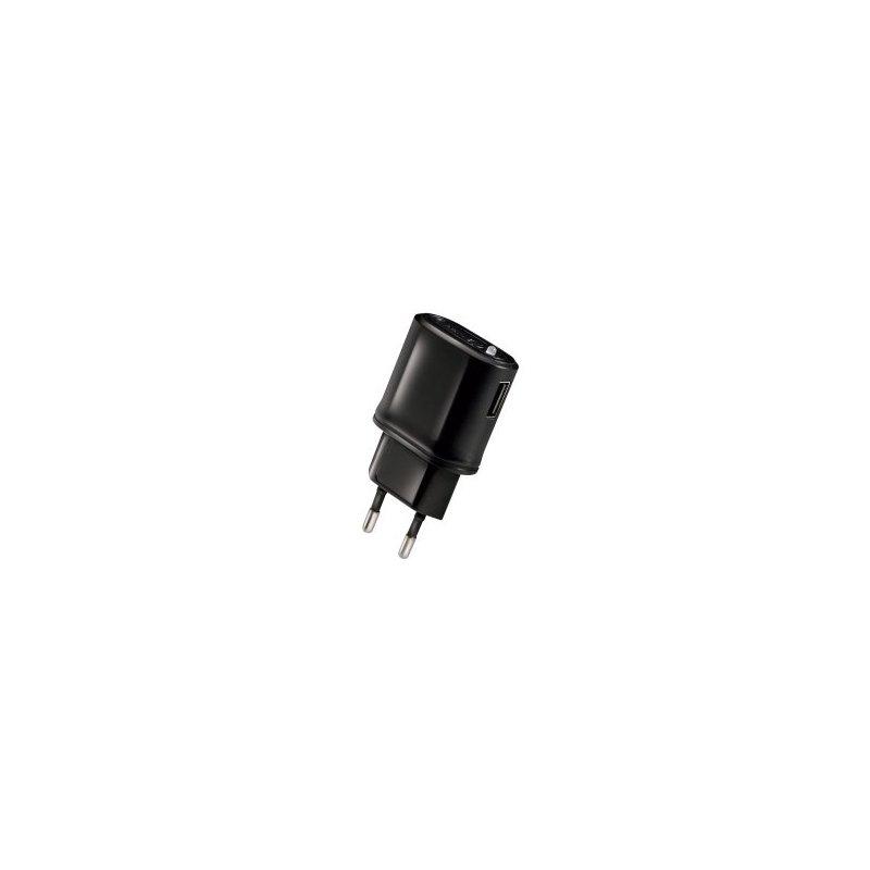 Celly TCUSBBK cargador de dispositivo móvil Interior Negro