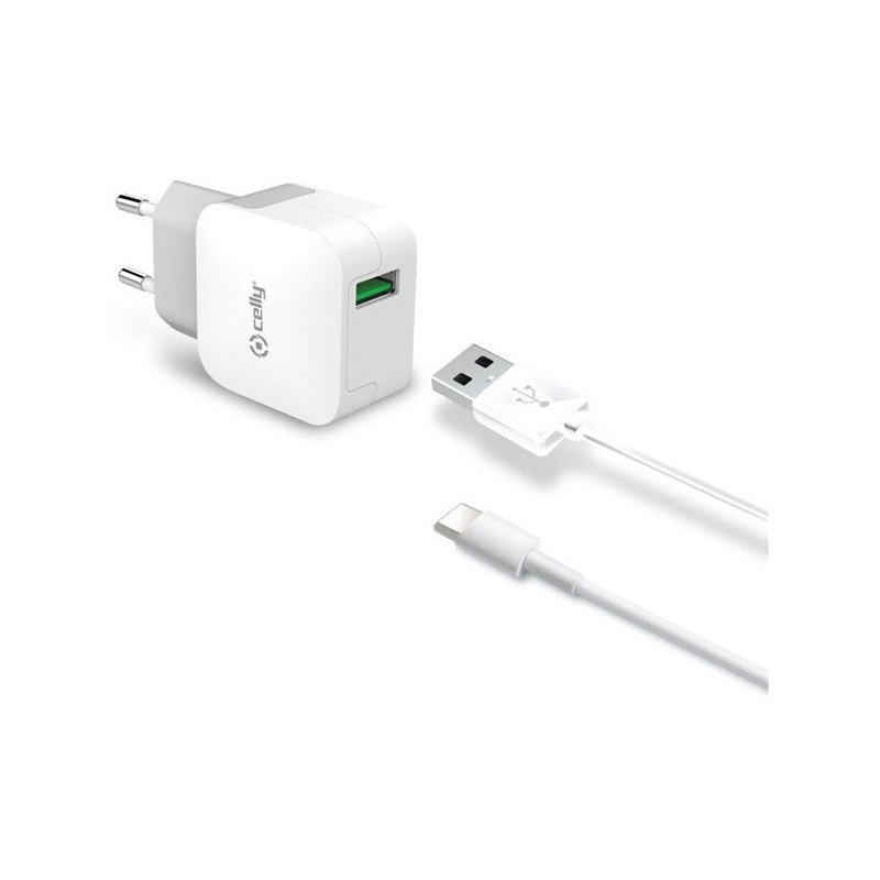 Celly TCUSBLIGHT cargador de dispositivo móvil Interior Blanco