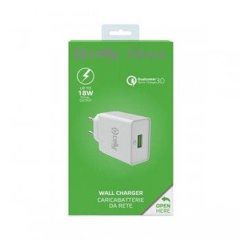 Celly TCUSBQC30WH cargador de dispositivo móvil Interior Blanco