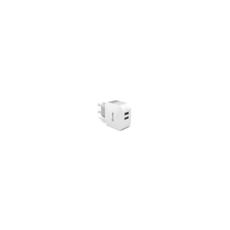 Celly TC2USBTURBO cargador de dispositivo móvil Interior Blanco