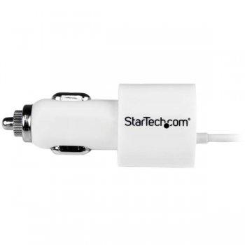 StarTech.com Cargador de Coche con Conector Lightning de Apple y Puerto USB 2.0 de Carga - Alto Poder 21 Watt   4,2 A