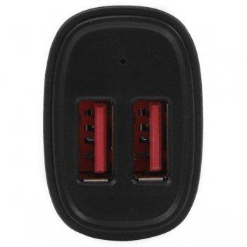 StarTech.com Cargador de Coche USB de Dos Puertos - 24W   4,8A - Negro