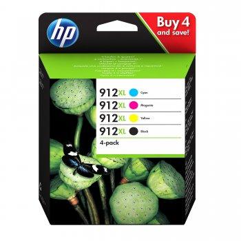 HP 912XL Original Negro, Cian, Magenta, Amarillo Multipack 4 pieza(s)
