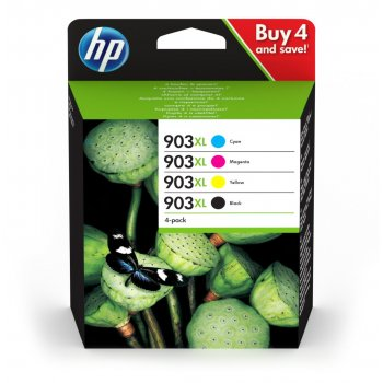 HP 903XL Original Negro, Cian, Magenta, Amarillo Multipack 4 pieza(s)