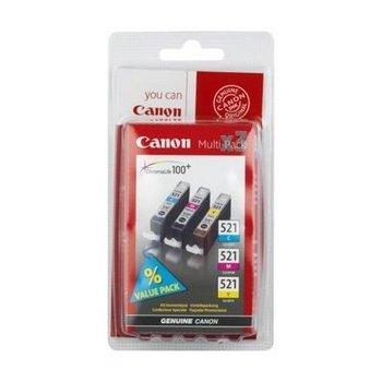 Canon CLI-521 C M Y Original Cian, Magenta, Amarillo 3 pieza(s)