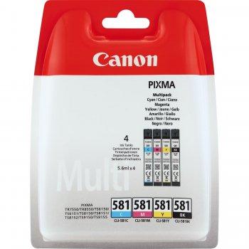 Canon CLI-581 Multipack Original Negro, Cian, Magenta, Amarillo