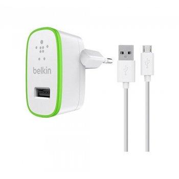 Belkin F8M886VF04-WHT cargador de dispositivo móvil Interior Verde, Blanco