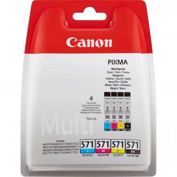 Canon CLI-571 Multipack Original Negro, Cian, Magenta, Amarillo 4 pieza(s)