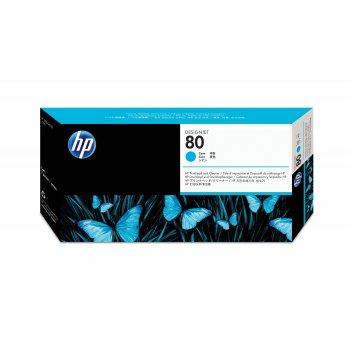 HP Limpiador de cabezales de impresión y cabezal de impresión DesignJet 80 cian