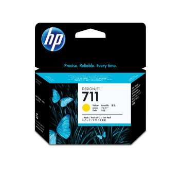 HP 711 Original Amarillo Multipack 3 pieza(s)