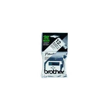Brother Labelling Tape - 12mm, Black White, Blister cinta para impresora de etiquetas M