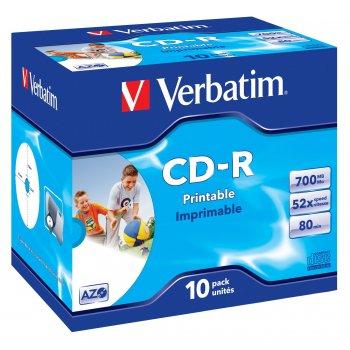 Verbatim CD-R AZO Wide Inkjet Printable 700 MB 10 pieza(s)