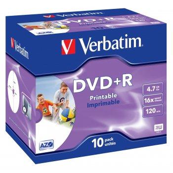 Verbatim 43508 DVD en blanco 4,7 GB DVD+R 10 pieza(s)
