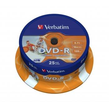 Verbatim 43538 DVD en blanco 4,7 GB DVD-R 25 pieza(s)