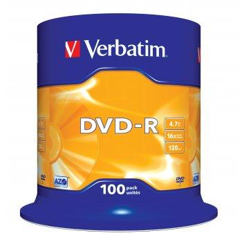 Verbatim DVD-R Matt Silver 4,7 GB 100 pieza(s)